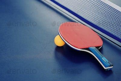 Ping-pong racket and ball