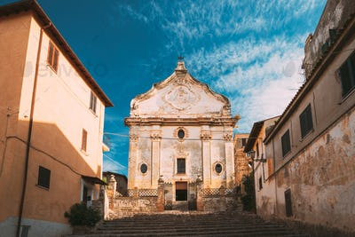 Terracina, Italy. Church Of Purgatory In Baroque Style Built On Site Of Church Of St. Nicholas