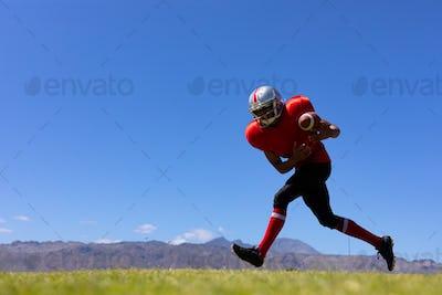 Football player playing football