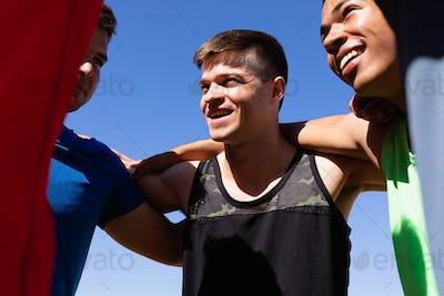 Men motivating for sport