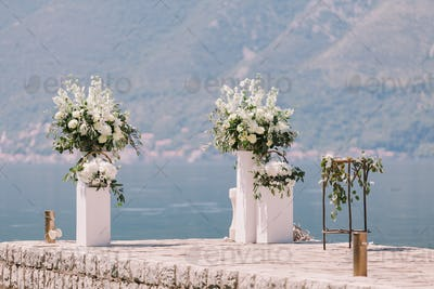 wedding arch decoration with beautiful view