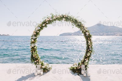 WEDDING ARCH RECEPTION WITH SEA VIEW in Montenegro