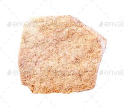 unpolished yellow calcareous sandstone rock