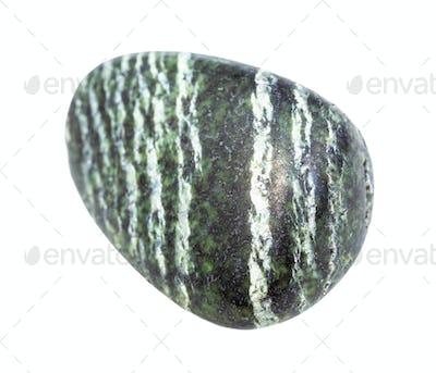 polished Chrysotile asbestos rock isolated