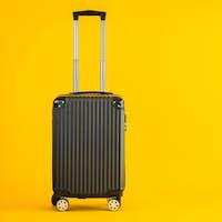 Black color luggage or baggage bag use for transportation travel