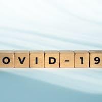 COVID-19 word on wooden blocks