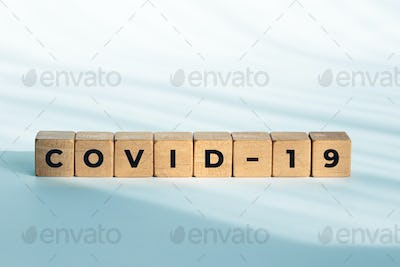 COVID-19 word on wooden blocks