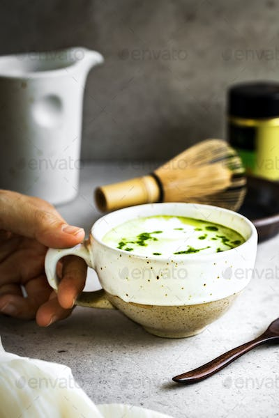 Matcha Coconut milk Latte by Chasen