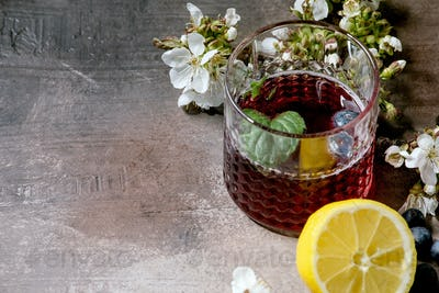 Glass of cider or lemonade