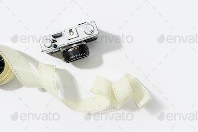 Background of vintage photo camera