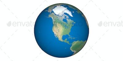 earth planet globe white background