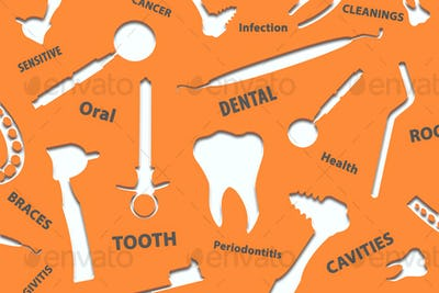 Dental background illustration