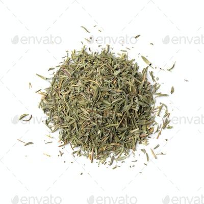 Heap of dried rosemary needles