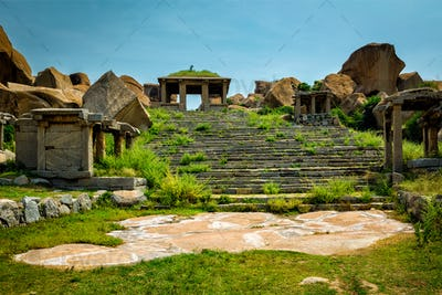 Ancient ruins in Hampi, India