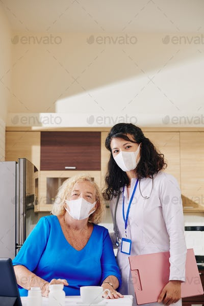 Doctor and senior patient