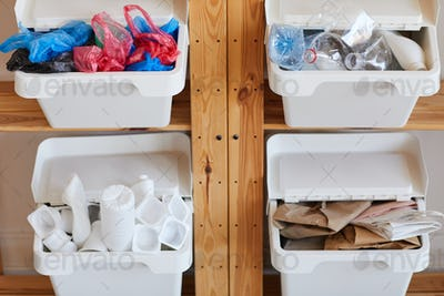 Storage Containers for Waste Sorting
