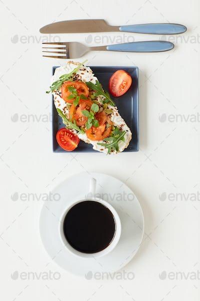 Healthy Breakfast on White
