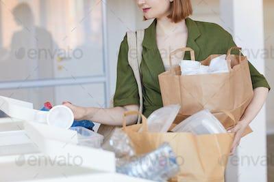 Woman Sorting Waste