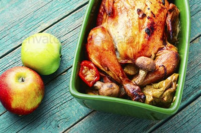 Chicken roast with apples