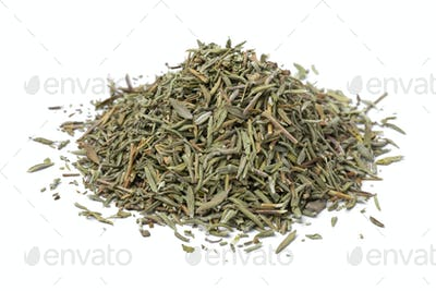 Heap of dried Thyme close up