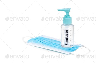 Hand sanitizer spray and surgical facial mask as protection against influenza