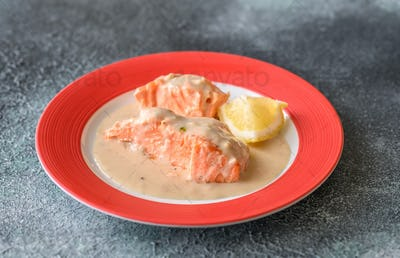 Coconut milk salmon