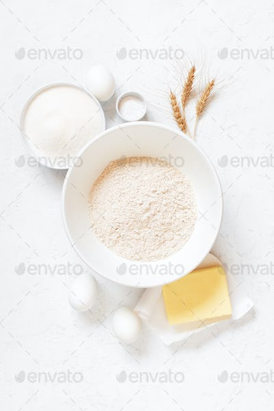 Ingredients for Baking in the White Table