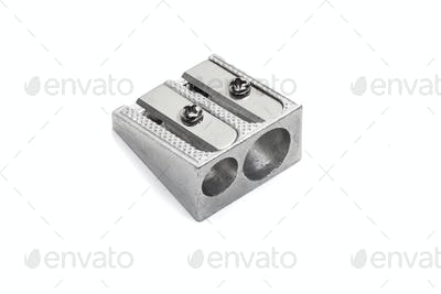 Metallic pencil sharpener with Double Hole