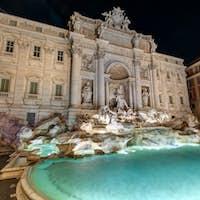 The famous Fontana di Trevi in Rome