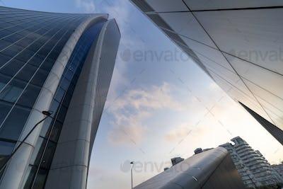 Modern Hadid tower at Citylife, Milan