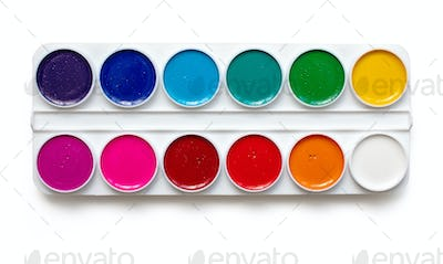 watercolor package on a white background