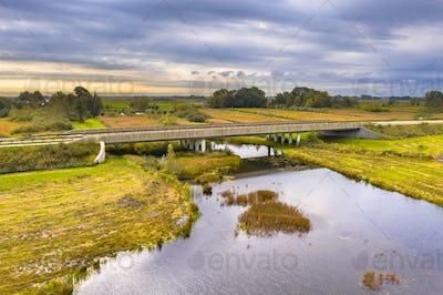 River bridge with wildlife underpass