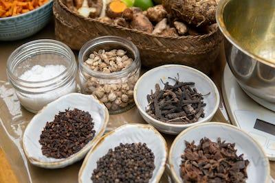 jamu herbal drink spice ingredient