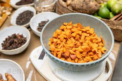 turmeric for jamu traditional drink