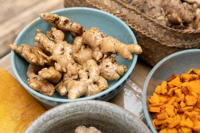 ginger and turmeric for jamu traditional