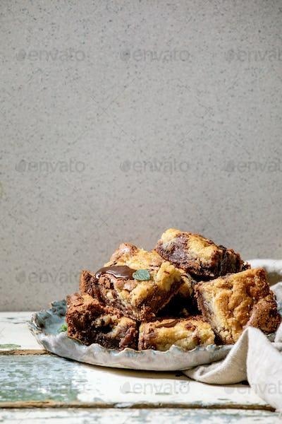 Brookies brownies and cookies cake