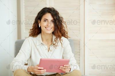 Stylish Female Freelancer Portrait