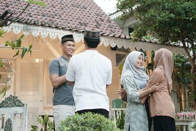 family visit on eid mubarak
