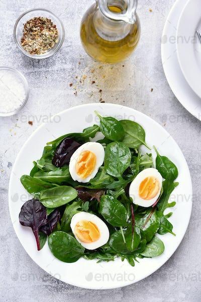 European green mix salad