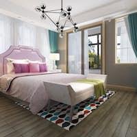 3d rendering beautiful pink pastel vintage kid bedroom