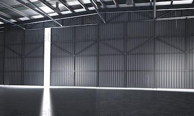 3d rendering beautiful empty warehouse