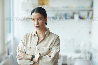 Young businesswoman at office