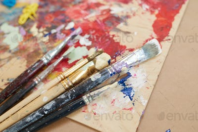 Paintbrushes with paintings