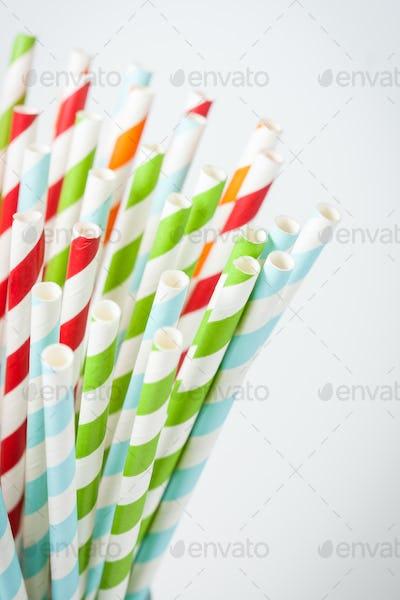 Striped cocktail stick