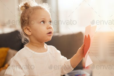 Little Girl With Card For Mom