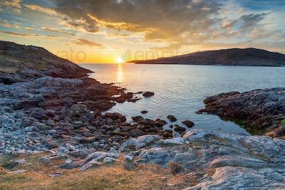 Sunset from Hushinish on the Isle of Harris