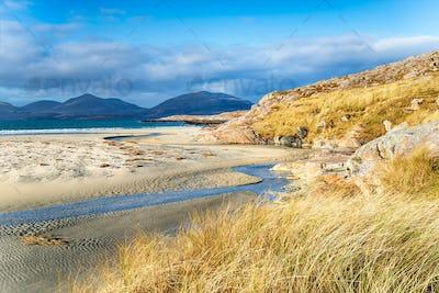 The sandy beach at Luskentyre on the Isle of Harris