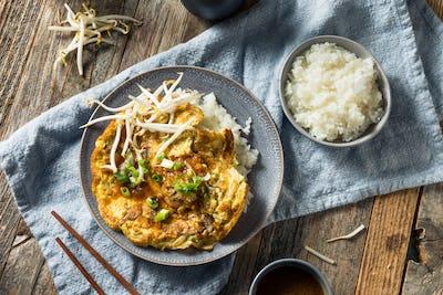 Homemade Chinese Egg Foo Yung Omelette