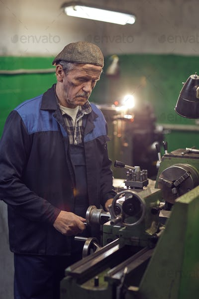 Man working at machine