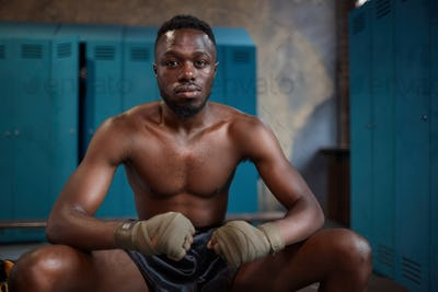 African serious boxer